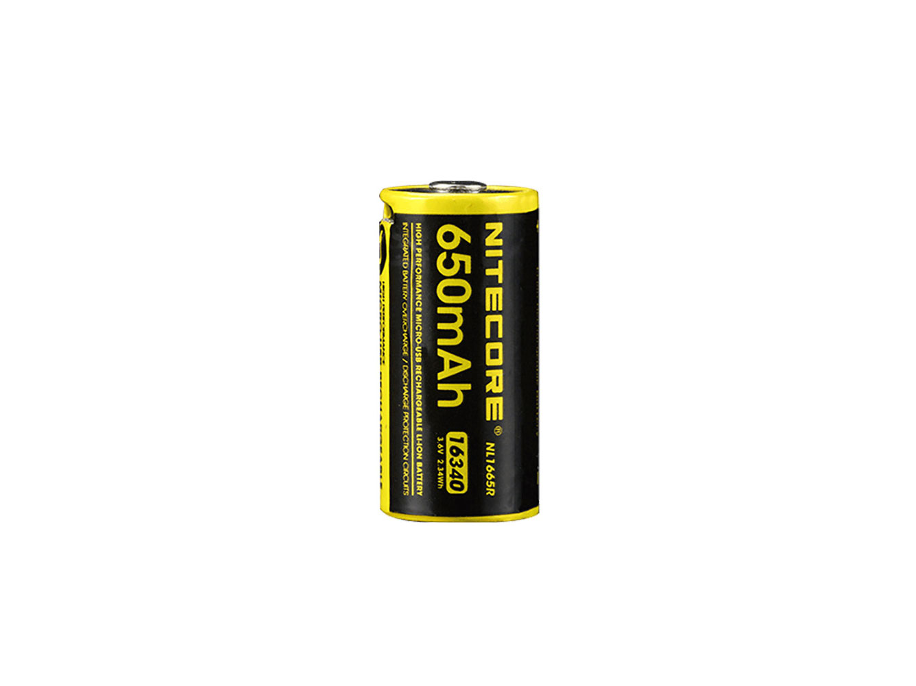 Nitecore NL1665R 16340 Battery - 650 mAh